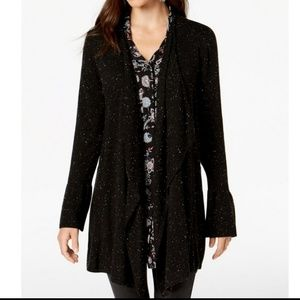 STYLE & CO Bell-Sleeved Draped Cardigan